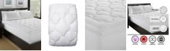 Ella Jayne Lofty 100% Cotton Plush Gel Fiber Filled Mattress Pad - Twin