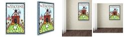 "Trademark Global Jennifer Nilsson Down on the Farm Canvas Art - 11"" x 14"" x 0.5"""