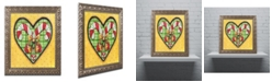 "Trademark Global Jennifer Nilsson Candy Cane Heart Ornate Framed Art - 18"" x 24"" x 2"""
