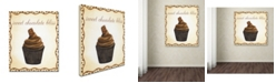 "Trademark Global Jennifer Nilsson Chocolate Cupcake Canvas Art - 16"" x 16"" x 0.5"""