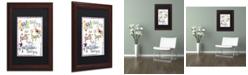 "Trademark Global Jennifer Nilsson Words of Love - Never Fails Matted Framed Art - 35"" x 47"" x 2"""