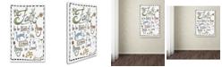 """Trademark Global Jennifer Nilsson Words of Faith - Certainty Canvas Art - 16"""" x 20"""" x 0.5"""""""
