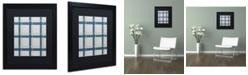 "Trademark Global Jennifer Nilsson Grey Blue Matted Framed Art - 16"" x 24"" x 2"""