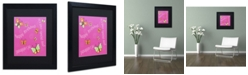 "Trademark Global Jennifer Nilsson Pink Butterfly Girl Birthday Matted Framed Art - 18"" x 18"" x 2"""