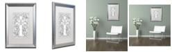 """Trademark Global Jennifer Nilsson Butterfly Garden Cross Matted Framed Art - 16"""" x 20"""" x 0.5"""""""