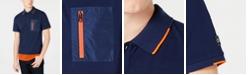 Calvin Klein Men's Athleisure Regular-Fit Colorblocked Mix-Media Polo Shirt