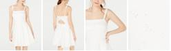 Trixxi Juniors' Eyelet Cutout Fit & Flare Dress
