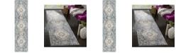 """Safavieh Illusion Cream and Blue 2'3"""" x 8' Runner Area Rug"""
