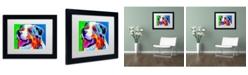 """Trademark Global DawgArt 'Aussie' Matted Framed Art - 14"""" x 11"""" x 0.5"""""""