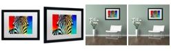 "Trademark Global DawgArt 'Zebra' Matted Framed Art - 20"" x 16"" x 0.5"""