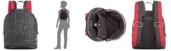 Steve Madden Gale Pebble Logo Quilt Backpack