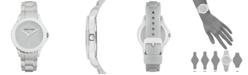 Anne Klein Women's Light Gray Silicone Strap Watch 38mm