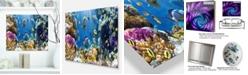 "Design Art Designart 'Fish In Coral Reef' Seascape Photography Metal Wall Art - 20"" X 12"""