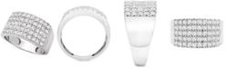 Macy's Diamond Pavé Statement Ring (1 ct. t.w.) in 14k White Gold