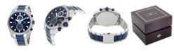 Joseph Abboud Men's Analog Two Tone Stainless Steel Bracelet Watch 28mm