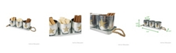 Mind Reader 4 Piece Metal Canister Multi Purpose Storage Set with Holding Tray
