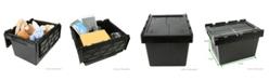 Mind Reader Heavy Duty Plastic Crate Storage Bin