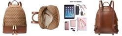 Michael Kors Rhea Jacquard Signature Backpack