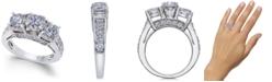 Macy's Diamond Three Stone Engagement Ring (3 ct. t.w.) in 14k White Gold