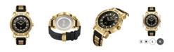"Jbw Men's ""562"" Diamond (1/8 ct.t.w.) 18k Gold Plated Stainless Steel Watch"