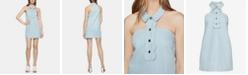 BCBGeneration Cotton Denim Halter Dress