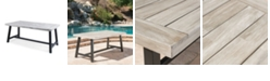 Noble House Carlisle Outdoor Dining Table, Quick Ship