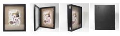 "Lawrence Frames Black Front Hinged Shadow Box Frame - Burlap Display Board - 11"" x 14"""
