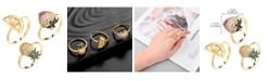 nOir Stackable Cubic Zirconia Fruit Ring Set