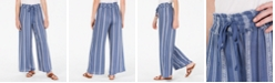 American Rag Juniors' Printed Wide-Leg Soft Pants, Created for Macy's
