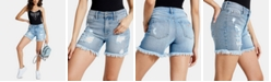 GUESS 1981 Ripped Denim Shorts