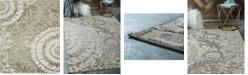 Bridgeport Home Pashio Pas3 Ivory 8' x 10' Area Rug