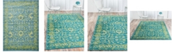 "Bridgeport Home Linport Lin3 Blue 8' x 11' 6"" Area Rug"