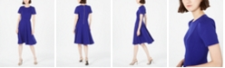 Calvin Klein Crewneck Fit & Flare Dress