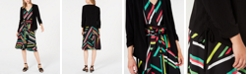 Bar III Open Jacket, Sleeveless V-Neck Blouse & Printed Skirt, Created for Macy's