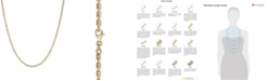 """Italian Gold Textured Barrel Link 18"""" Chain Necklace in 14k Gold"""
