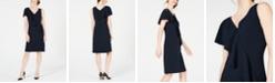 Elie Tahari Kailey Ruffle-Front Crepe Dress
