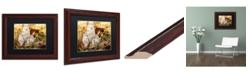 """Trademark Global Jason Shaffer 'Autumn Mushrooms' Matted Framed Art - 14"""" x 11"""""""