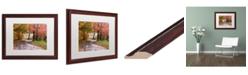 """Trademark Global Jason Shaffer 'Forgotten Vermilion' Matted Framed Art - 20"""" x 16"""""""