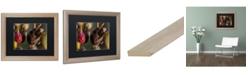 "Trademark Global Jason Shaffer 'Hornets' Matted Framed Art - 20"" x 16"""