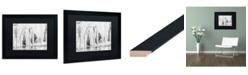 """Trademark Global Jason Shaffer 'Mill Hollow Winter' Matted Framed Art - 20"""" x 16"""""""