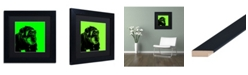 """Trademark Global Claire Doherty 'Chimp No 5' Matted Framed Art - 11"""" x 11"""""""