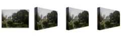 """Trademark Global Jean Baptiste Corot 'Souvenir of the Villa Borghese' Canvas Art - 24"""" x 16"""""""