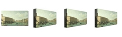 "Trademark Global Canaletto 'The Grand Canal from the Rialto Bridge' Canvas Art - 24"" x 14"""