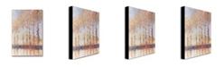 "Trademark Global Claude Monet 'Poplars on the Banks of the Epte' Canvas Art - 32"" x 22"""