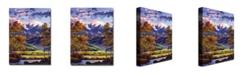 "Trademark Global David Lloyd Glover 'Mountain River Valley' Canvas Art - 32"" x 24"""