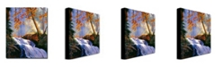 "Trademark Global David Lloyd Glover 'Rushing Waters' Canvas Art - 47"" x 35"""