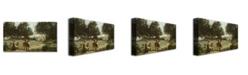 "Trademark Global Jean Baptiste Corot 'Homer and the Shepard' Canvas Art - 24"" x 14"""