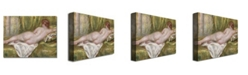 """Trademark Global Pierre Auguste Renoir 'Reclining Nude from the Back' Canvas Art - 24"""" x 18"""""""