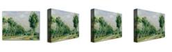 "Trademark Global Pierre Auguste Renoir 'The Road to Versailles' Canvas Art - 24"" x 18"""