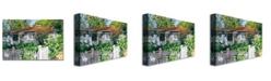 "Trademark Global David Lloyd Glover 'Rose Cottage' Canvas Art - 24"" x 18"""